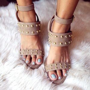 Shoes - 🆕//The kehlani// taupe studded Sandal